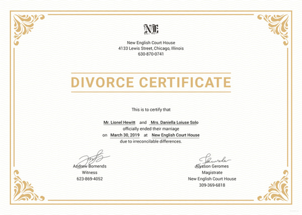 Divorce Certificate Translation Brisbane